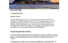 Infolettre 2016-09-11